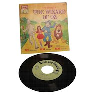 Disney Read-Along Book  Wizard of Oz with Vinyl Record