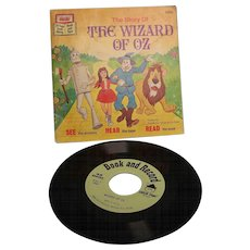 Disney Read-Along Book  Wizard of Oz with Vinyl Record