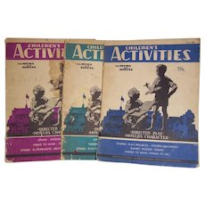 Children's Activities Magazine  May 1936 March June 1937 Set of 3