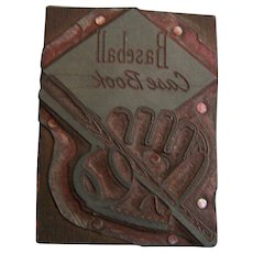 Letterpress Printer Block Baseball