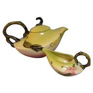 Hull Pottery Woodland Teapot and Creamer