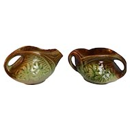 McCoy Pottery Daisy Creamer and Open Sugar Bowl