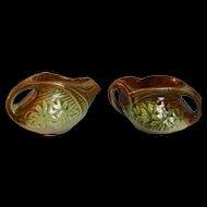 McCoy Pottery Daisy Creamer and Open Sugar Bowl