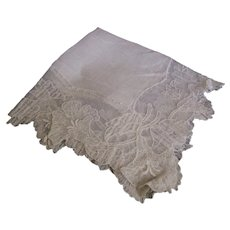 Hankerchief Sheer Linen Embroidered Netted Lace Bridal