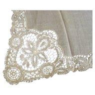 Handkerchief Lace Edge Cream