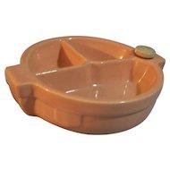 Ceramic Divided Baby Child Warming Dish Hankscraft  1940's