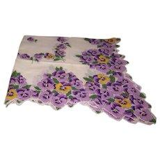 Handkerchief Violet Floral
