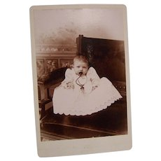 Victorian Cabinet Photo Baby with Bottle