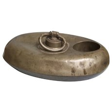 Pewter Foot Warmer with bottle warmer insert