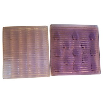 Luxfer Radial Prism Glass Tile Amethyst Purple 4x4