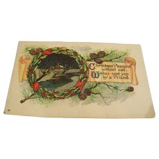 Christmas Postcard Unused Joseph Hoover & Son