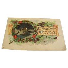 Christmas Postcard Unused Joseph Hoover & Son