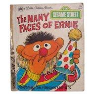 Little Golden Book Sesame Street The Many Faces of Ernie