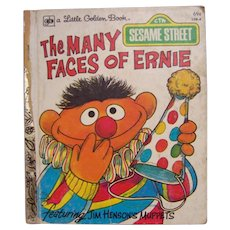 Little Golden Book Sesame Street The Many Faces of Ernie
