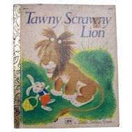 Little Golden Book Tawny Scrawny Lion 1979