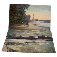 Postcard Minneapolis, MN Scenery 1915 1914 set of 2