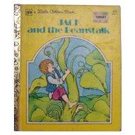 Little Golden Book Jack and the Beanstalk 1979