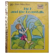 Little Golden Book Jack and the Beanstalk 1979