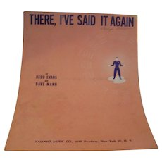 Sheet Music There I Said It Again  1941