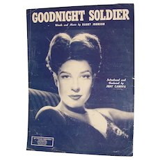 Sheet Music Goodnight Soldier by Harry Johnson