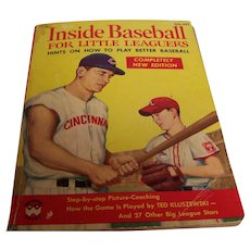 Vintage Inside Baseball For Little Leaguers 1956