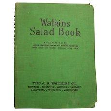Watkins Salad Book by Elaine Allen JR Watkins Co. 1946