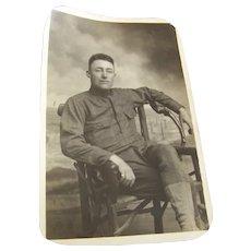 Postcard Original Photo Soldier 1917