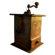 Coffee Grinder Wood Cast Iron