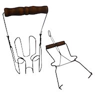 Jar pullers set of two Wire & Wood