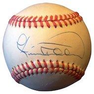 Cecil Fielder Autographed Baseball