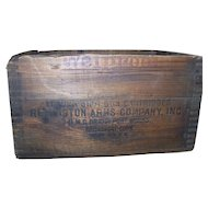 Remington Ammo Wood Box Dovetail