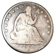 Liberty Seated 1854 O Half Dollar