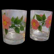 Franciscan Desert Rose Old Fashion Tumbler Set of 2