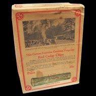 Advertising Box  Cedar Chips E.R. Co