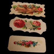 Victorian Calling Cards Embossed set of 3