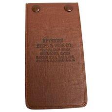 Advertising Pocket Notebook Keystone Steel & Wire Co