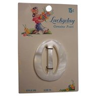 Lucky day Pearlized Belt Buckle With Card