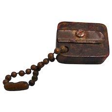 Bakelite pencil Sharpener with Chain