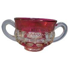 Kings Crown Pattern 1950-65  sugar bowl Double Flash Ruby
