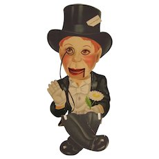 Charlie McCarthy Paper Cardboard Puppet - Red Tag Sale Item