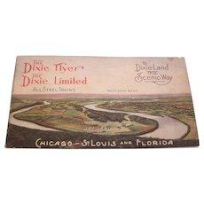 Dixie Flyer and Dixie Limited Train Schedule  Souvenir Booklet