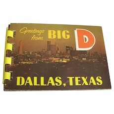 Dallas Souvenir Folder 8 Historic Color Miniature Photos 1968