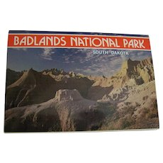 Badlands Photo Souvenir Postcard Folder