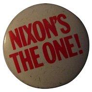 Nixon Political Presidential Campaign Button Pin 1968
