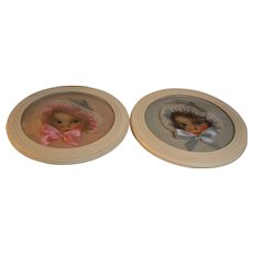 Bubble Glass Infant Pictures.  Set of 2