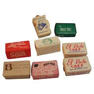 Advertising Wrapped Sugar Cube Set of 8 Green Mill North Shore Line