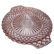 Waterford Pink Handled serving Tray Hocking