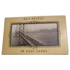 Bay Bridge Post Card Folder  15 cards