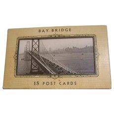 Bay Bridge Post Card Folder  15 cards
