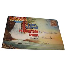 Yellowstone Souvenir Folder  Haynes Picture Shop